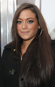 Sammi Giancola defined her eyes for 'The Sitter' premiere using lots of rich black liner and mascara.