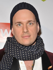 J. Ralph's dotted scarf brought some extra fun and flair to his look at The Wrap pre-Oscar party.