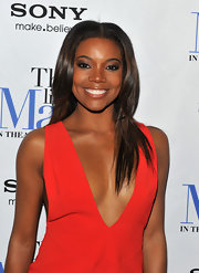 Gabrielle Union rocked the red carpet at the 'Think Like a Man' premiere wearing her hair in a sleek style featuring glossy layers.