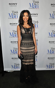 Julissa Bermudez looked elegant at the 'Think Like a Man' premiere in this macrame gown.