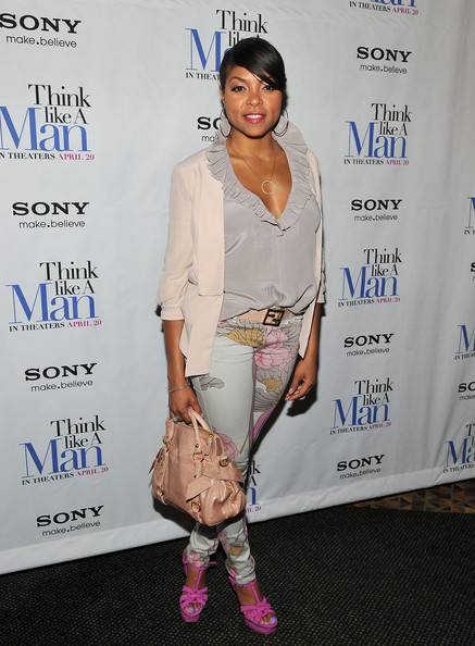 More Pics of Taraji P. Henson Print Pants (3 of 10) - Jeans Lookbook - StyleBistro