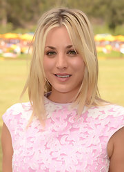 Kaley let her straight blonde tresses loose for the 3rd Annual Veuve Clicquot Polo Classic.