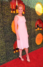 We loved the simplicity of Rebecca's drop-waist fit-and-flare dress at the Polo Classic!