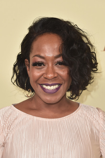 Tichina Arnold Curled Out Bob [the hollywood reporter,hair,face,hairstyle,eyebrow,forehead,chin,head,black hair,lip,smile,nominees,reporter,contenders,arrivals,contenders,tichina arnold,celebrate emmy award,hollywood,sag-aftra]