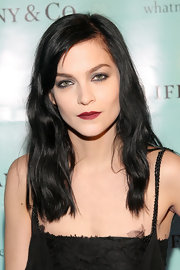 Leigh Lezark wore a rich warm cranberry shade of lip stain at the launch of Tiffany's True Love in Pictures gallery.