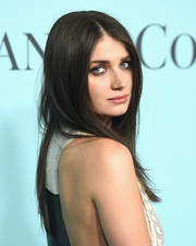 Eve Hewson wore her hair loose in a simple straight style for the Tiffany & Co. Blue Book Gala.