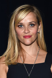 Reese Witherspoon looked youthful with her straight hair and side-swept bangs at the Tiffany & Co. 2015 Blue Book celebration.