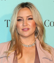Kate Hudson looked lovely wearing this gently wavy center-parted hairstyle at the unveiling of Tiffany & Co.'s renovated Beverly Hills store.
