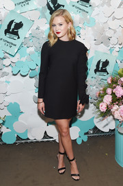 Ava Phillippe went classic in a long-sleeve LBD by Valentino at the Tiffany & Co. Paper Flowers event.