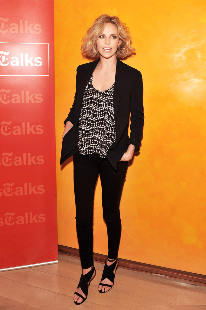 Actress Charlize Theron attends the New York Times TimesTalk at the Times Center on December 9, 2011 in New York City.