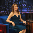 Gorgeous in a Strapless Dress on 'Late Night with Jimmy Fallon'