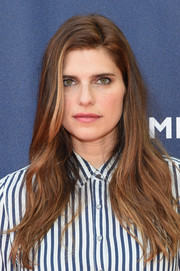 Lake Bell wore slightly disheveled waves to the Tommy Hilfiger and Rafael Nadal global brand ambassadorship launch.