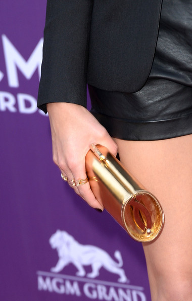Tori Kelly Metallic Clutch