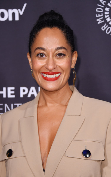 Tracee Ellis Ross Classic Bun [paley honors: celebrating women in television,hair,face,hairstyle,lip,eyebrow,skin,chin,forehead,suit,premiere,tracee ellis ross,new york city,cipriani wall street,the paley honors: celebrating women in television,event]