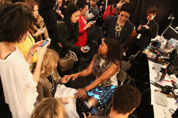 TRESemme At Tracy Reese - Backstage - Fall 2013 Mercedes-Benz Fashion Week
