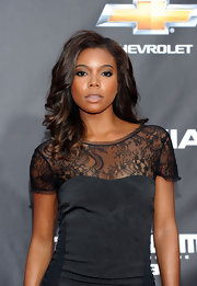 Gabrielle Union styled her hair in soft curls for the premeire of 'Transformers: Dark Side of the Moon.'