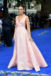 Laura Haddock was a vision in a pink princess gown by Emilia Wickstead at the global premiere of 'Transformers: The Last Knight.'