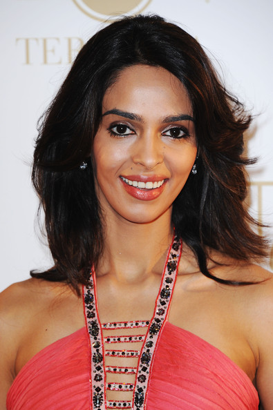 More Pics of Mallika Sherawat Evening Dress (3 of 5) - Dresses & Skirts Lookbook - StyleBistro [the tree of life,hair,hairstyle,eyebrow,black hair,beauty,long hair,layered hair,brown hair,hair coloring,smile,mallika sherawat,gray dalbion beach,cannes,france,martini terrace,party,cannes film festival]