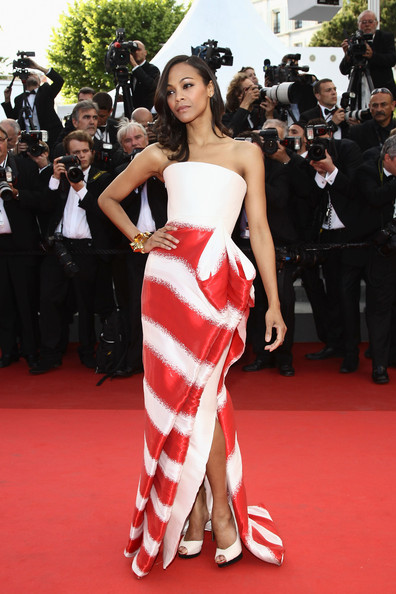 More Pics of Zoe Saldana Evening Dress (3 of 34) - Zoe Saldana Lookbook - StyleBistro