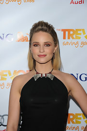 Dianna Agron wore her shiny shoulder-length tresses with backcombed bangs at The Trevor Project's 2011 Trevor Live!.