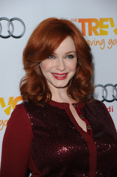 More Pics of Christina Hendricks Hard Case Clutch (1 of 9) - Christina Hendricks Lookbook - StyleBistro