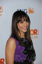Rashida Jones wore her silky tresses long and straight at The Trevor Project's 2011 Trevor Live!