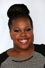 Amber Riley looked cute and fun with her braided high bun during TrevorLIVE.
