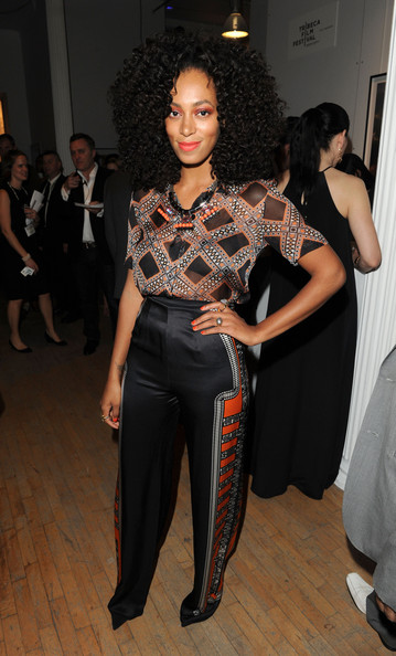 More Pics of Solange Knowles Bright Nail Polish (4 of 5) - Solange Knowles Lookbook - StyleBistro