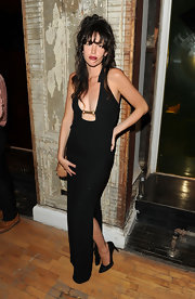 Paz de la Huerta smoldered at the 2012 Tribeca Ball in a black halter dress with a belly-grazing neckline.