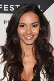 Jessica Lucas was chicly coiffed with long, face-framing waves at the Tribeca TV Festival sneak peek of 'Gotham.'