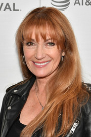 Jane Seymour attended the Tribeca TV: Indie Pilots sporting her usual long straight cut with wispy bangs.