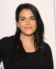Abbi Jacobson styled her hair into this half-pinned wavy 'do for the Tribeca Film Fest screening of 'Broad City.'