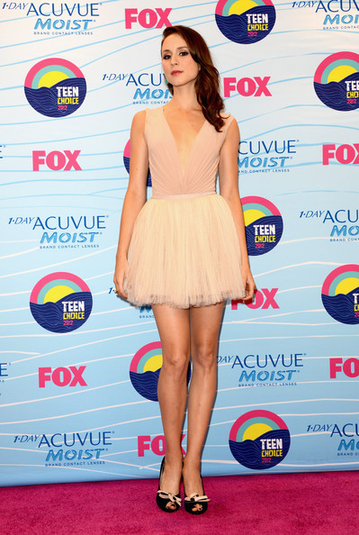 Troian Bellisario Peep Toe Pumps