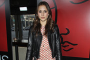 Troian Bellisario Print Dress
