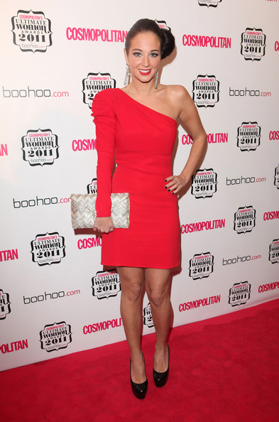 Tulisa Contostavlos One Shoulder Dress