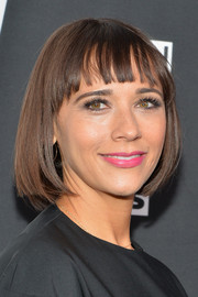Rashida Jones looked cute with her bob and wispy bangs at the Turner Upfront.
