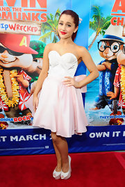 Ariana Grande arrived at the 'Alvin and the Chipmunks: Chipwrecked' DVD release party wearing a pretty pastel pair of platform wedges.