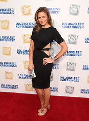 Shantel VanSanten showed just a touch of skin with this black cutout dress.