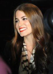 Nikki Reed wore her hair long and shiny with soft waves at the concert tour for 'The Twilight Saga: Breaking Dawn: Part 1.'