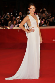 Nikki Reed took the plunge in a white gown at the International Film Festival for the premiere of 'Breaking Dawn.'