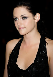 Kristen Stewart chose a soft frosty pink lipstick to balance her smoky-eyed look at the UK premiere of 'The Twilight Saga: Breaking Dawn - Part 1.'