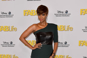 Tyra Banks One Shoulder Dress