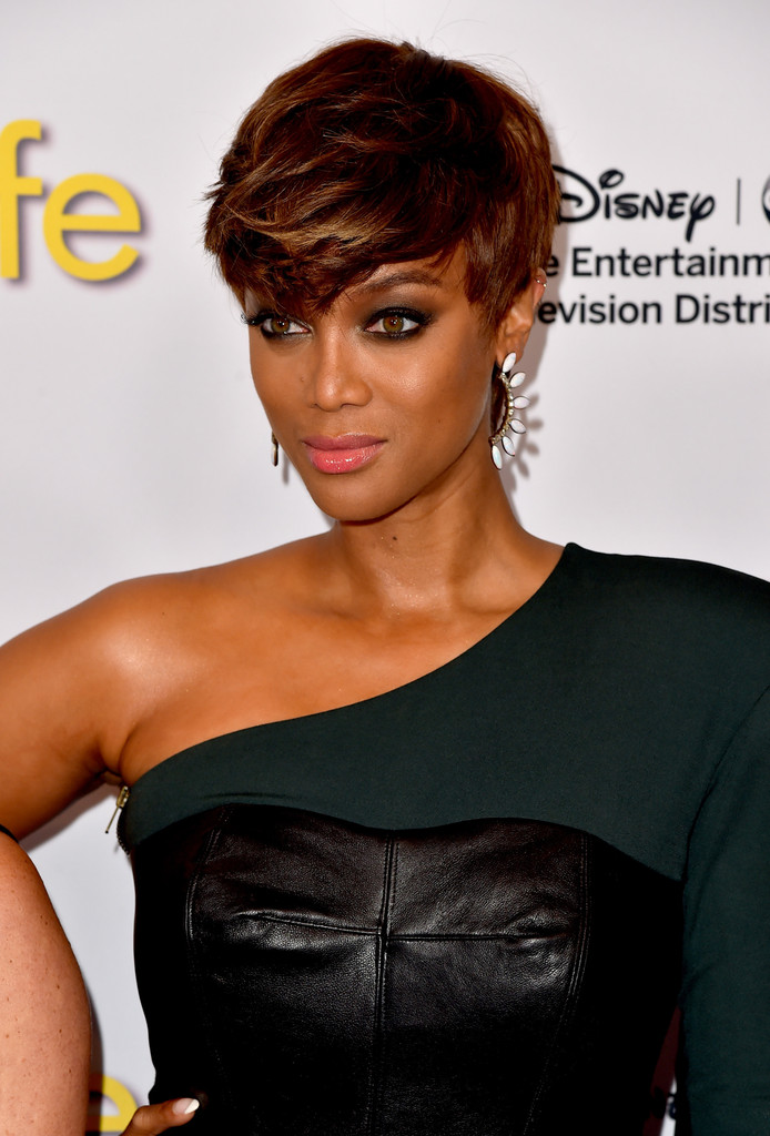 Banks Haircut : Tyra Banks Emo Bangs - Short Hairstyles Lookbook - StyleBistro