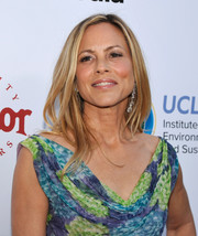 Maria Bello showed off a stylish layered cut at the UCLA Institute of the Environment and Sustainability Gala.