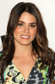 Nikki Reed sported long center part curls at the UK Style event.