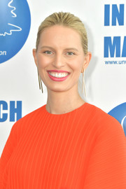 Karolina Kurkova sported a brushed-back bun at the 2019 International Women's Day celebration.