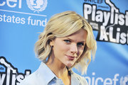 Brooklyn Decker arrived at a UNICEF Karaoke benefit wearing her adorable bob casually tousled.