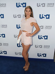 Serinda Swan's pink shorts and top had a fun and flirty vibe.