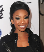 Brandy's large, silver hoops added just the right amount of edginess to her look at the launch party for Ubisoft's 'Just Dance 2'.