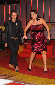 Davina was a show-stopper at the 'Ultimate Big Brother' final in this red sequined strapless dress.